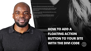 How to Add a Floating Action Button to Your Site with the Divi Code Module