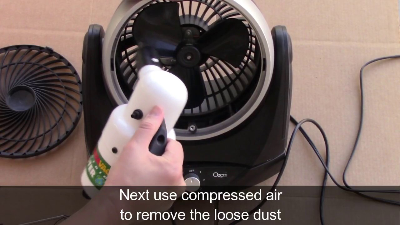 How To Disassemble And Clean An Ozeri Brezza Ii Dual Oscillating Fan