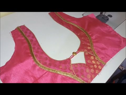 Cotton Saree Blouse Design Cutting And Stitching|2018