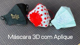 Máscara 3D Com Aplique Decorativo e Molde Grátis