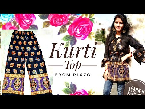 easy-plazo-cutting-to-make-kurti-top-|-diy-|-stunning-|-elegant-|-latest-|-trendy-|-fashion-kurti
