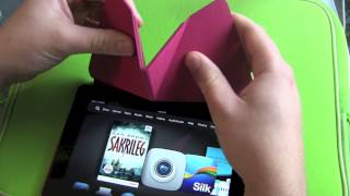 Amazon Kindle Fire HDX Origami Case unboxing and hands on