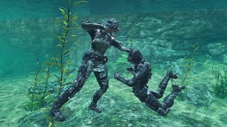 EPIC UNDERWATER FIST FIGHT BATTLE! (Black Ops 3)