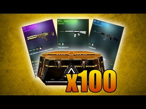 NEW AK-47, M16, & CEL-3 SHOTGUN! (Advanced Warfare 100x Supply Drop Opening Gameplay)