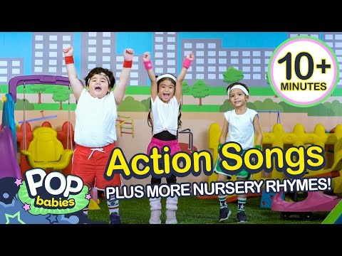 action-songs-+-more-nursery-rhymes-|-non---stop-compilation-|-pop-babies