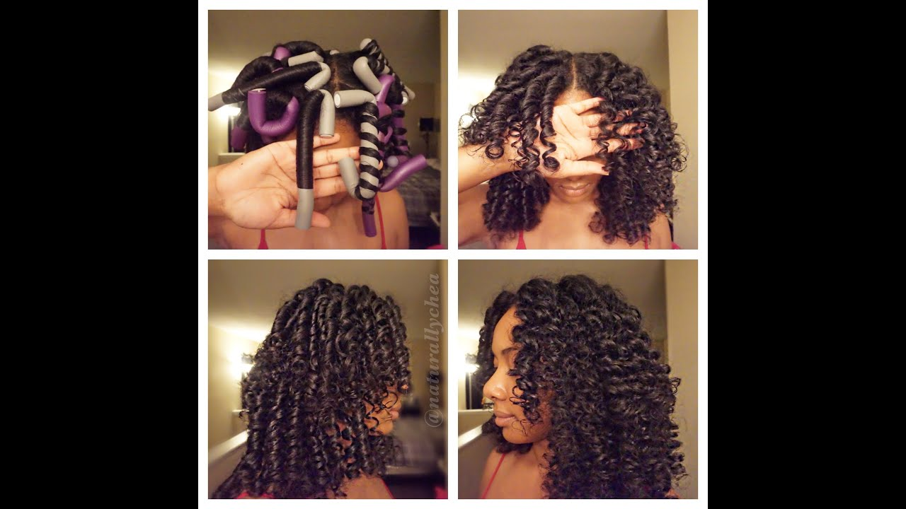 How To Roll Flexi Rods On Natural Hair Youtube