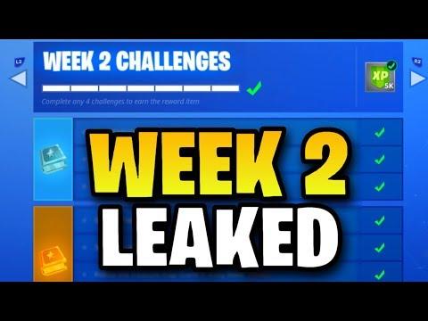 Fortnite WEEK 2 CHALLENGES LEAKED! (Fortnite: Battle Royale) [SEASON 5]