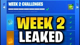 Fortnite WEEK 2 CHALLENGES LEAKED! (Fortnite: Battle Royale) [SEASON 5]