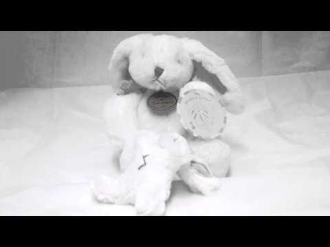 Lapin bonbon musical taupe Doudou et Compagnie - Une cuillère pour doudou