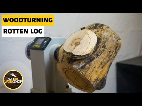 Woodturning: Rotten Log into a Bowl