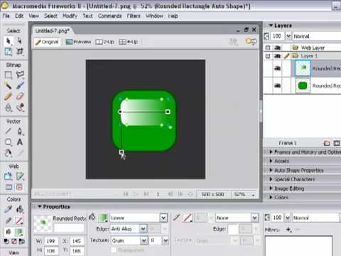 How To Make A Logo On Macromedia Fireworks 8 - YouTube