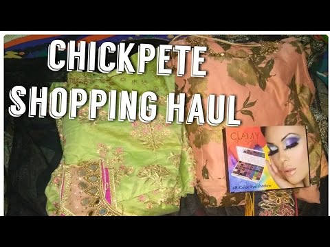 My mini shopping haul from chickpete,...