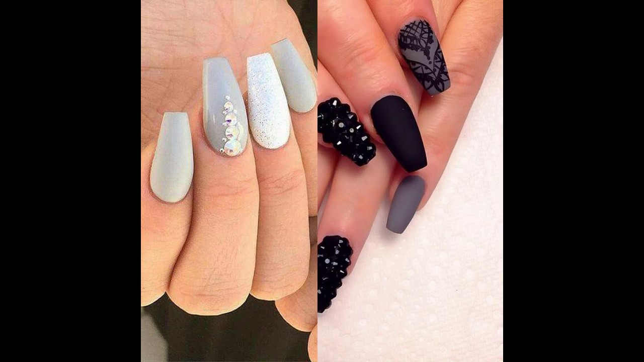 Uñas Decoradas Con Gris Youtube