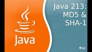Урок Java 213: Работа с шифрованием MD5 и SHA-1