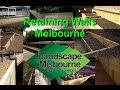 Timber Retaining Walls Melbourne