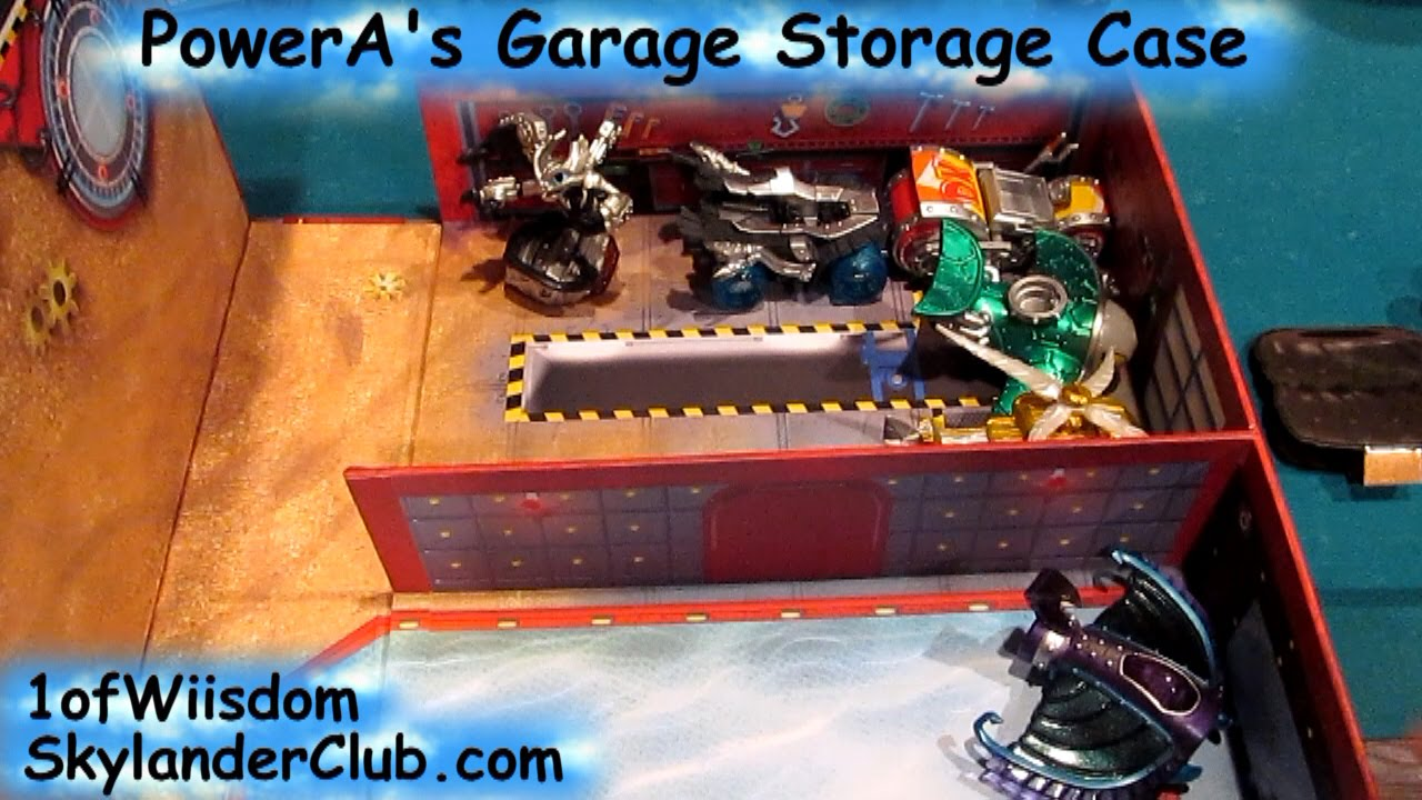 Skylanders superchargers garage storage case from powera for Garage costruito case