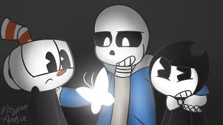 [Animation] Here Comes a Thought - (Sans, Bendy, Cuphead)