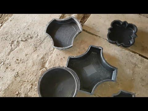 Как хранить формы тротуарной плитки зимой