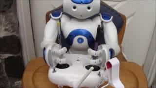NAO robot pilots a Phantom Vision Drone, oh no!