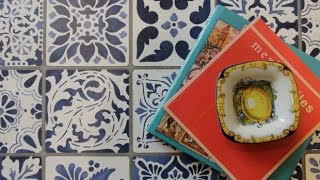 How to Stencil Tutorial: Painting a Tile Vintage Table Makeover with Annie Sloan Chalk Paint