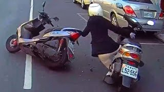 Scooter Riders Fails , Driving in Asia 2017 Pert 3