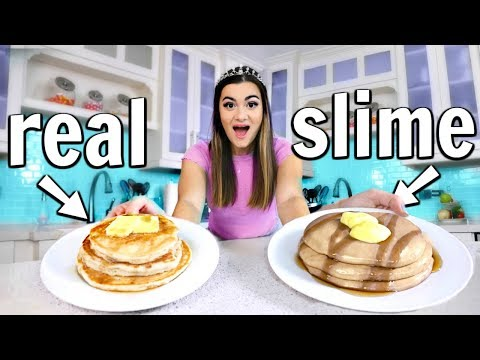 Thumbnail: Making FOOD out of SLIME! Food vs Slime Challenge