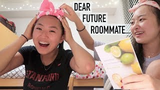"My ""Dear Future Roommate"" Stanford Essay"