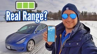 The REAL Range of the TESLA Model 3 in the Cold - The Truth!