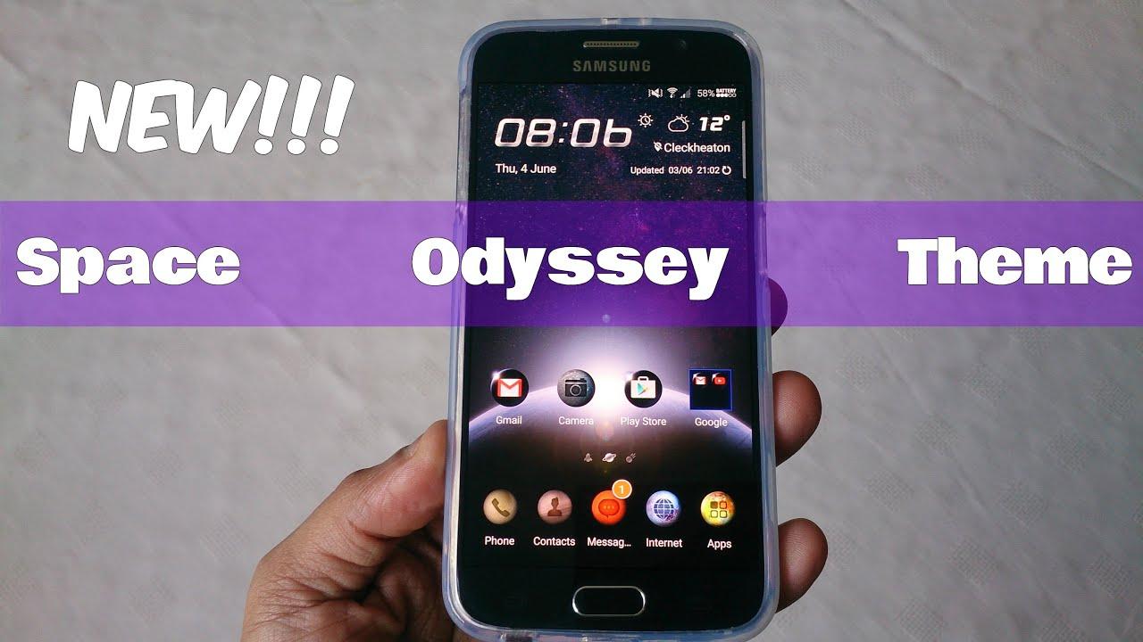 Gmail mobile theme - Samsung Galaxy S6 S6 Edge New Space Odyssey Theme