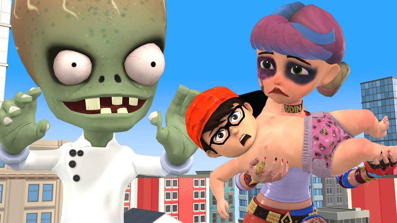 Scary teacher 3D BABY Nickhulk transform to BabyNick  - Tani being chased by Zombie boss Animation