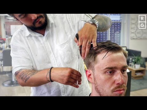 textured-natural-side-part-low-fade-haircut---ryan-gosling-inspired