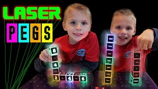 Laser Pegs Light-Up Learning Game!  || Kindergarten Tales