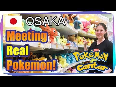 Traveling to Osaka Pokemon Center & Meeting Real Pokemon!