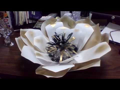 diy candle holder and paper flower