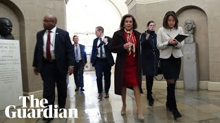 Nancy Pelosi holds her weekly news conference - as it happened