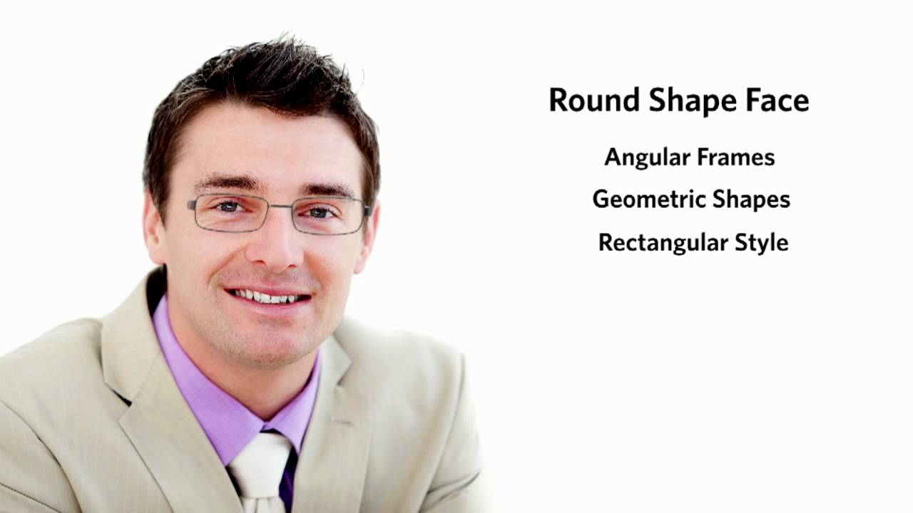 Frames for a Round Face Shape - Male - YouTube