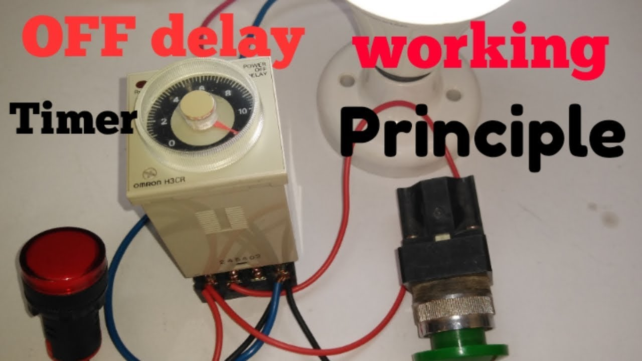 Omron H3cr Off Delay Timer Off Delay Timer Working System And Connection Diagram Youtube
