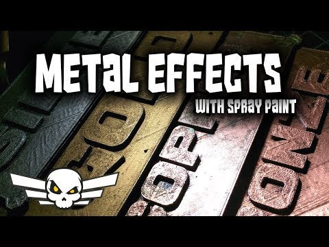 Top Spraypaint Metal Effects - Metallic Spray Paint