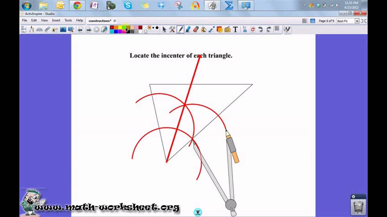 Geometry Constructions Angle Bisector Constructions Medium – Geometry Construction Worksheets