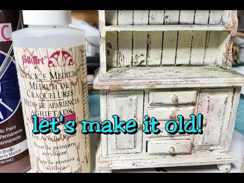 BHM Live Stream #1: Aging New Miniature Furniture