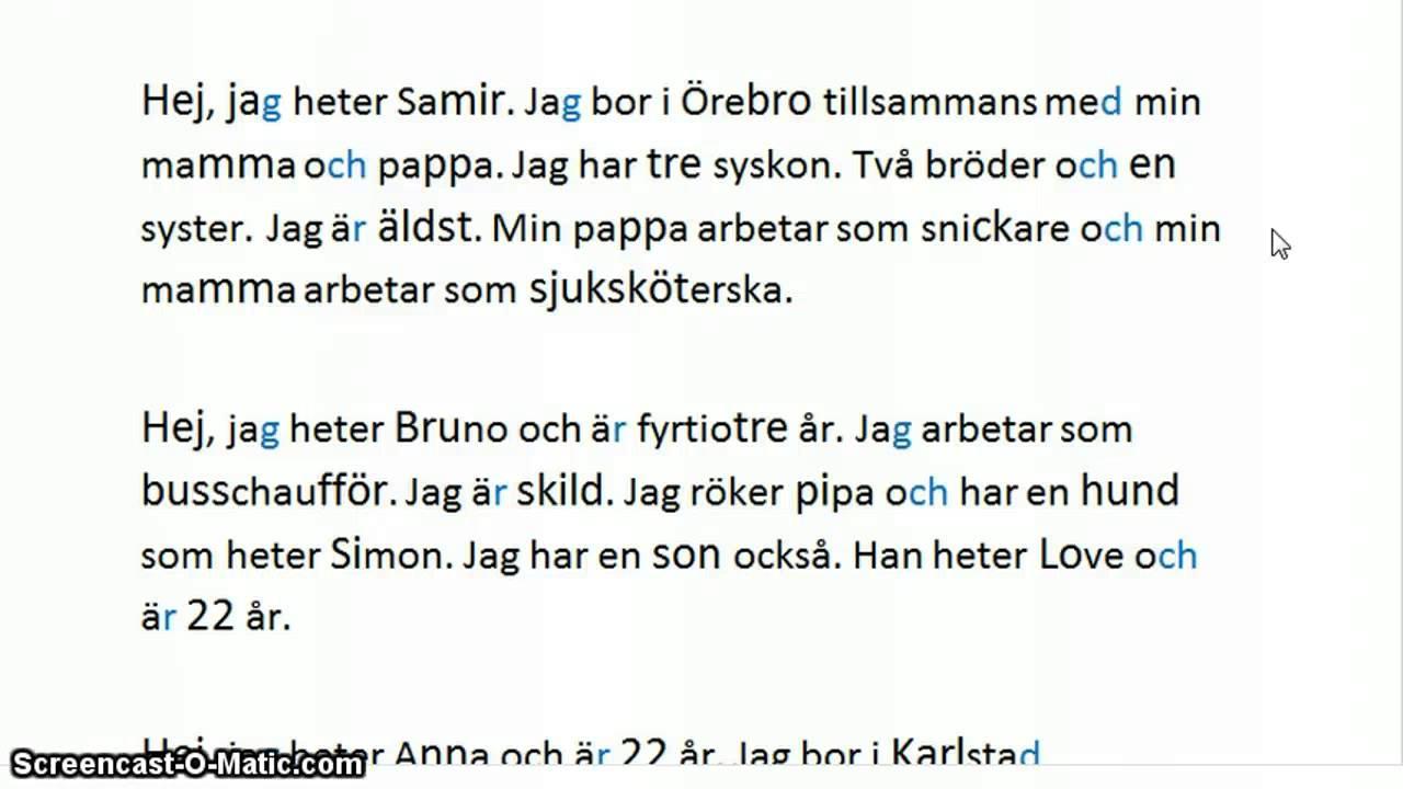 Läsförståelse Svenska Övningar