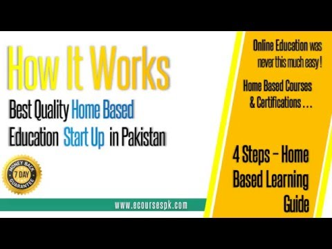 How eCoursesPK Works - Distance Learning Online Education StartUp in Pakistan