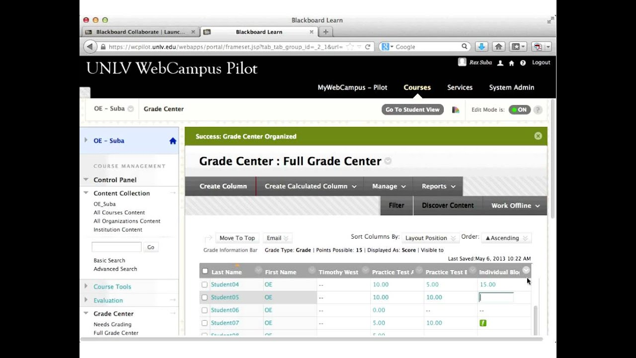 Grade Center | Blackboard at KU