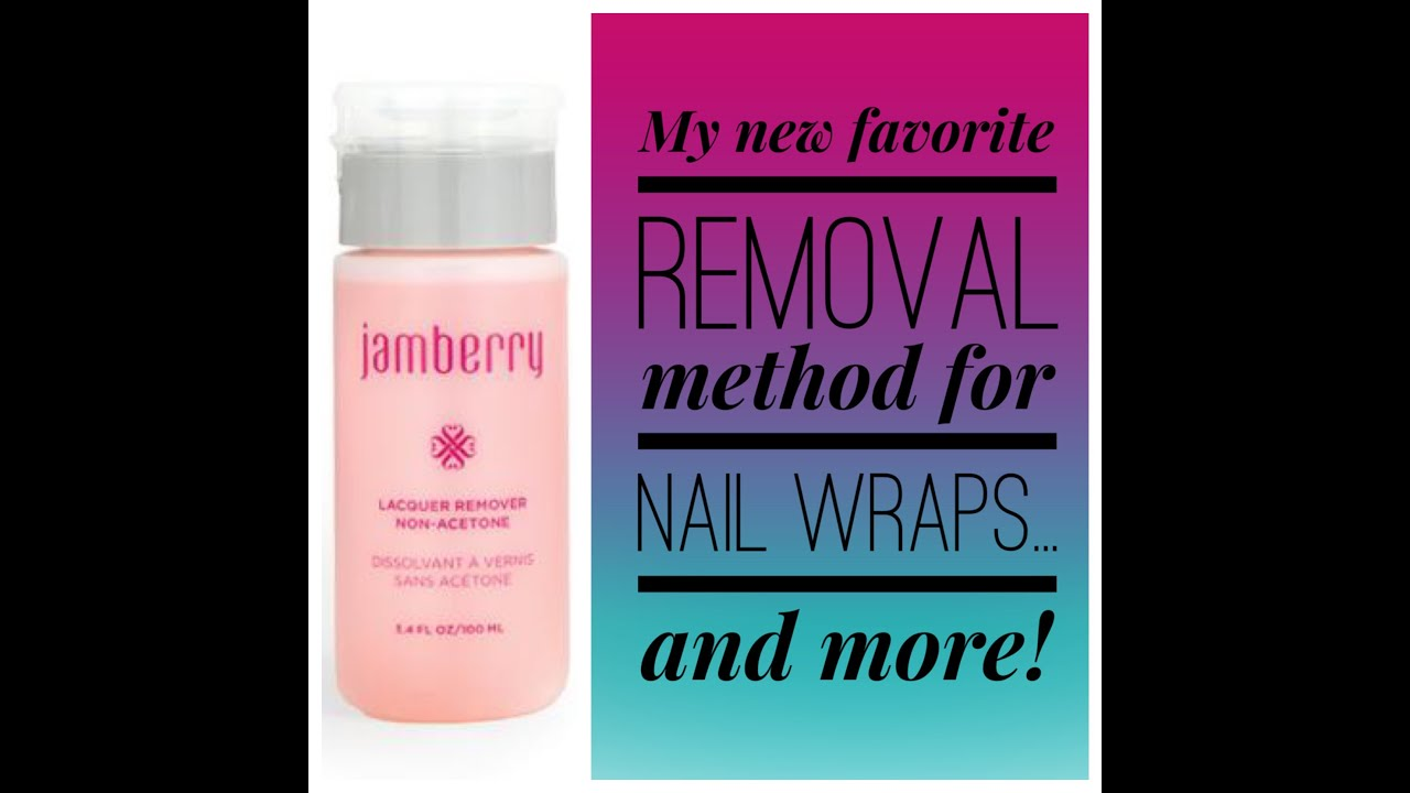 Jamberry Lacquer Remover - YouTube