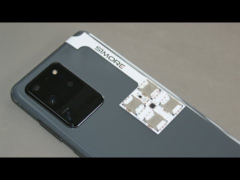 Galaxy S20 Ultra With 4 SIM & Micro SD Cards Using SIMore Speed ZX Four