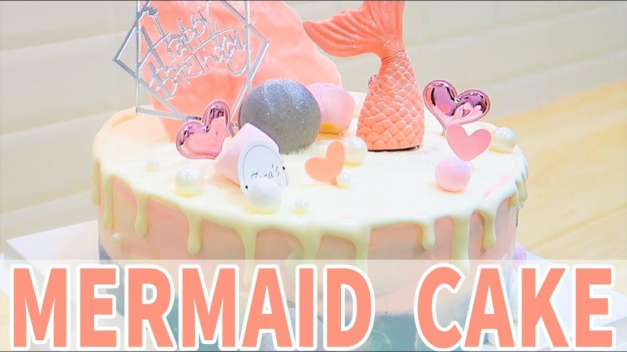 🎂 Birthday Cake Ideas Easy Mermaid Birthday Cake |  PASTEL de SIRENA decoración FÁCIL  | 美人魚蛋糕製作