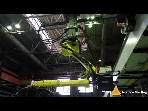 Test demonstration of a new Robotic system for welding of massive structures