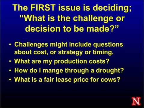 Economic Factors to Weigh in Making Decisions during Drought, Matt Stockton, UNL