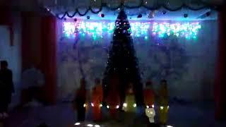 Танец огоньков новогодний утренник детский сад Тополек г.Обь воспитатель Менглиева Наталья