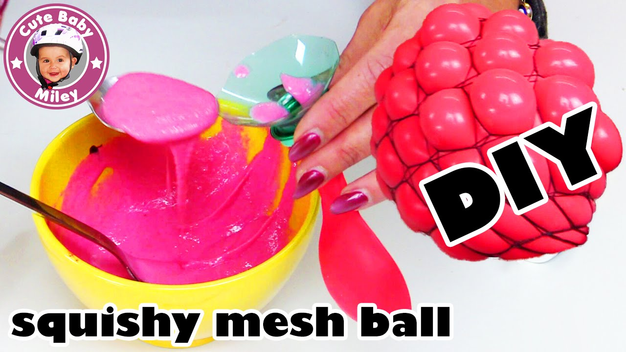 diy super coolen antistressball selber machen squishy mesh ball herstellen kinderkanal youtube. Black Bedroom Furniture Sets. Home Design Ideas